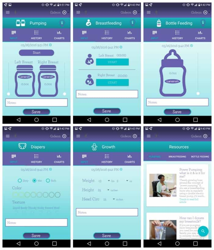 Lansinoh Smartpump Double Electric Breast Pump app screenshot