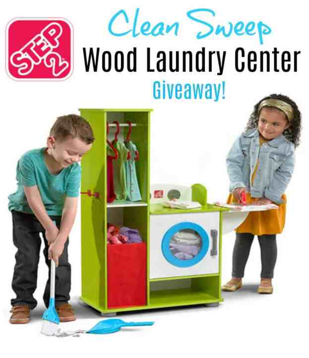 Step2 Clean And Sweep Wood Laundry Center