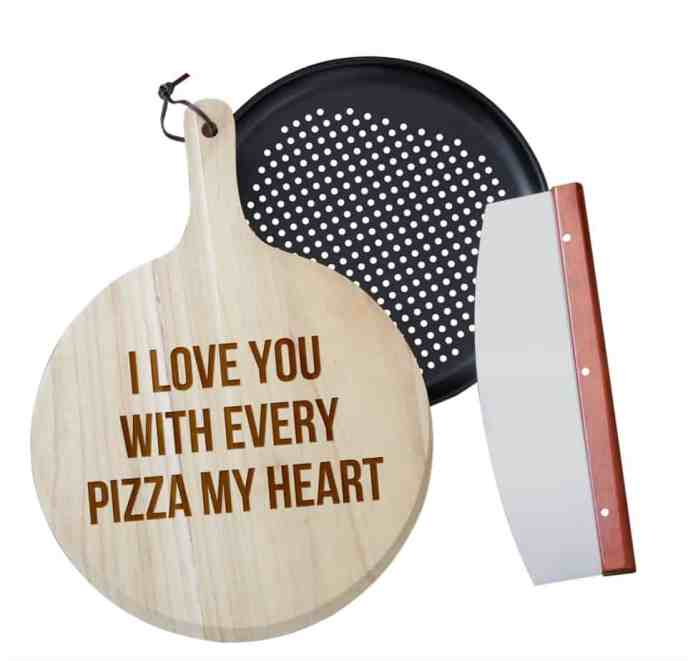 Pizza Expressions Personalized 3pc Pizza Board Gift Set