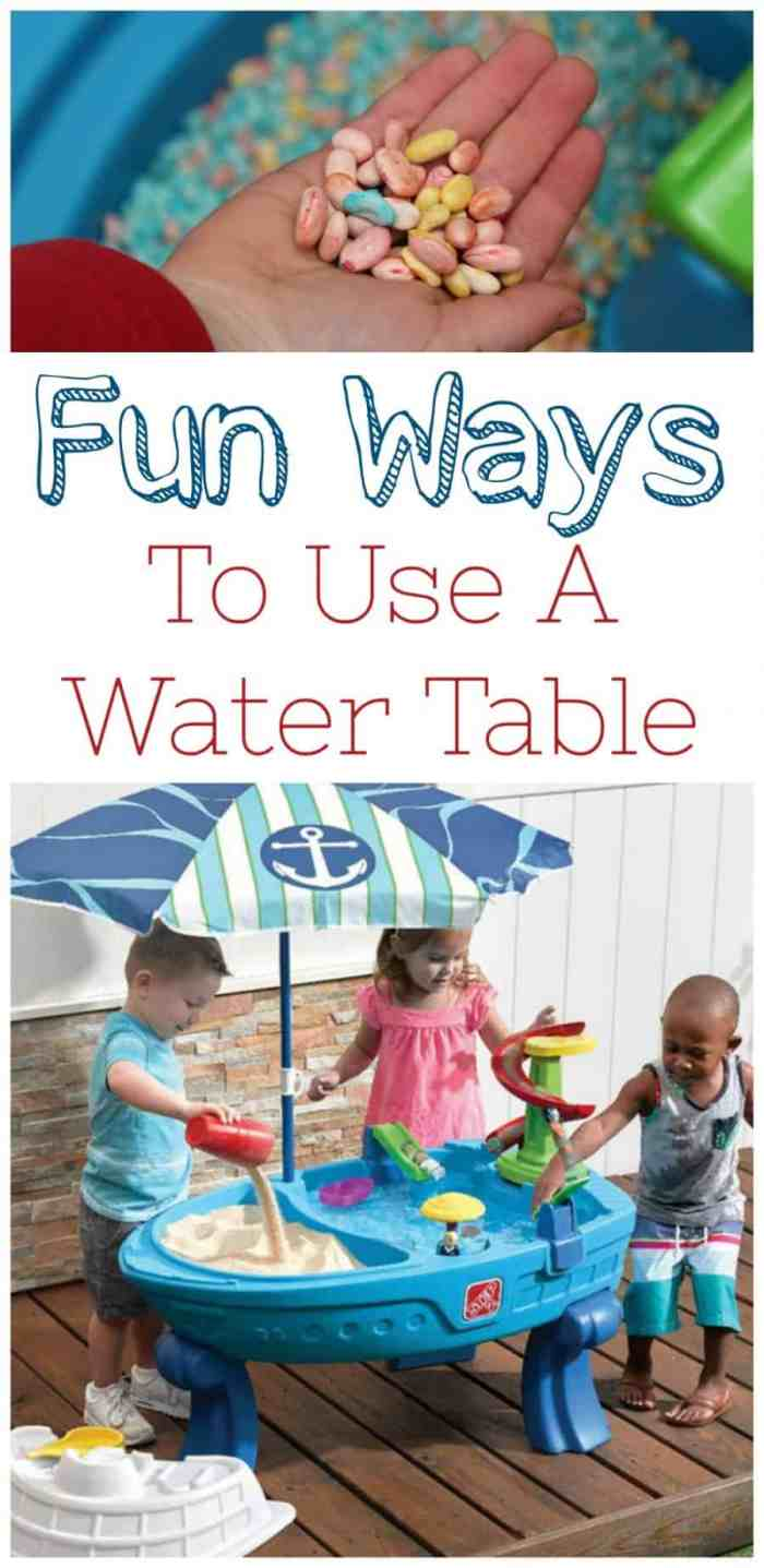 Multiple Ways to Use a Water Table for Kids