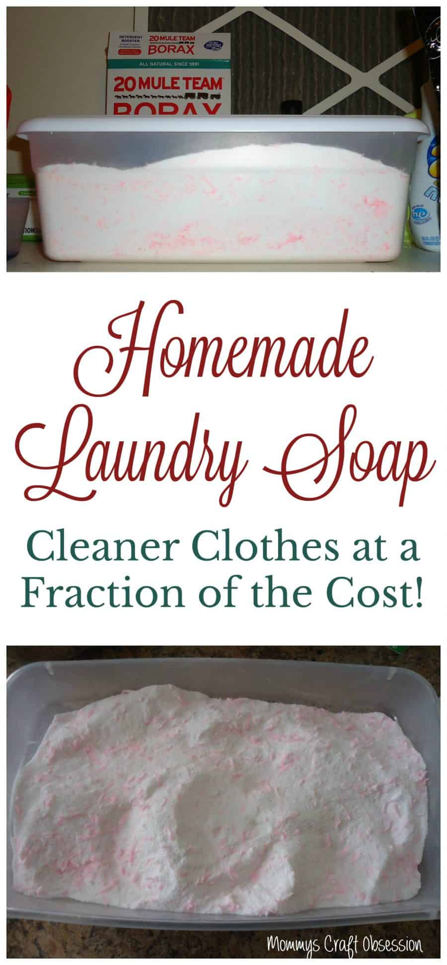 Homemade Laundry Soap Recipe