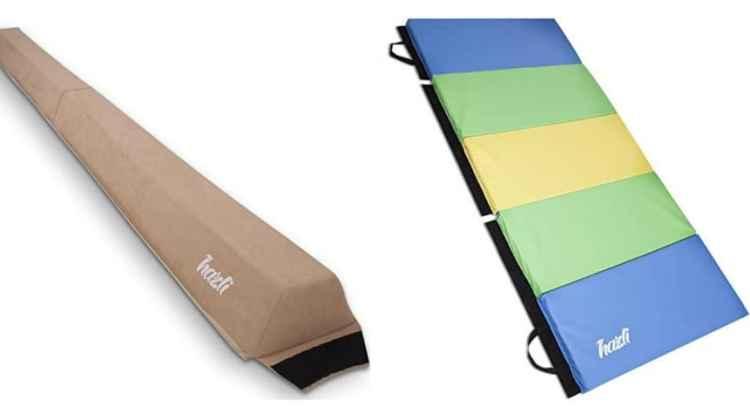 Hazli Gymnastics Balance Beam And Mat