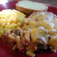 Mexi-Beef Macaroni and Cheese Casserole