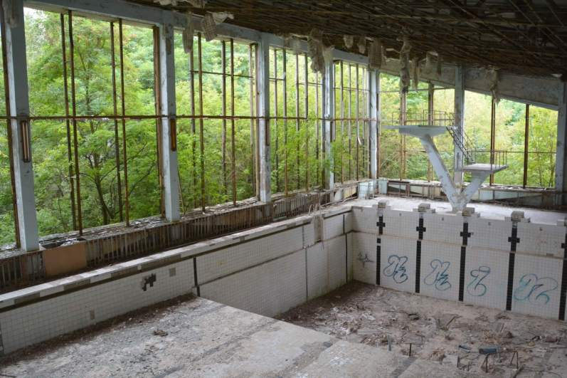 Abandoned swimming pool, Pripyat