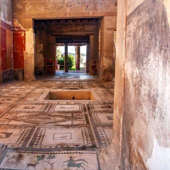 Pompeii inside house ruins