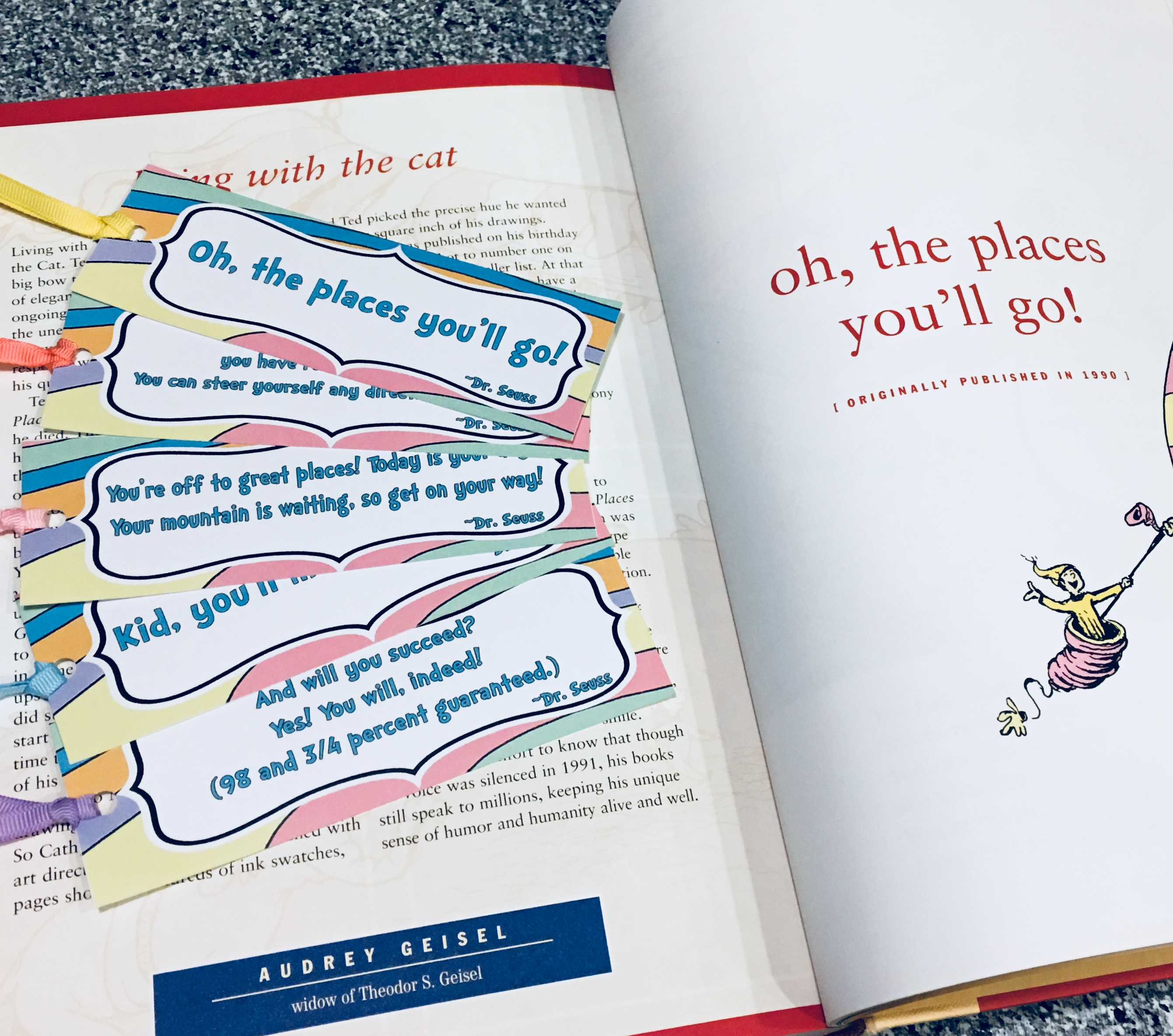 photo relating to Dr Seuss Printable Bookmarks referred to as Printable Bookmarks with Well-known Prices towards \