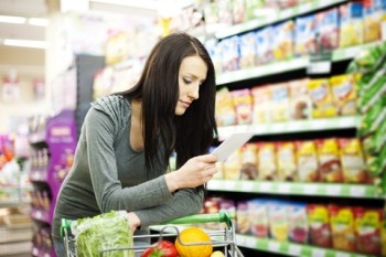 Shopping list, make a shopping list to save money and stop wasting food, thrifty and sustainable