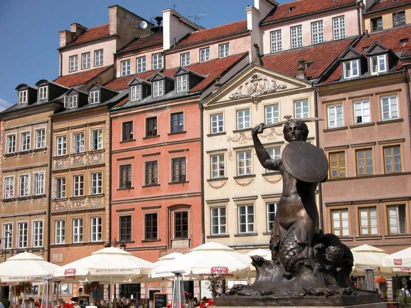 The Old Town mermaid statue