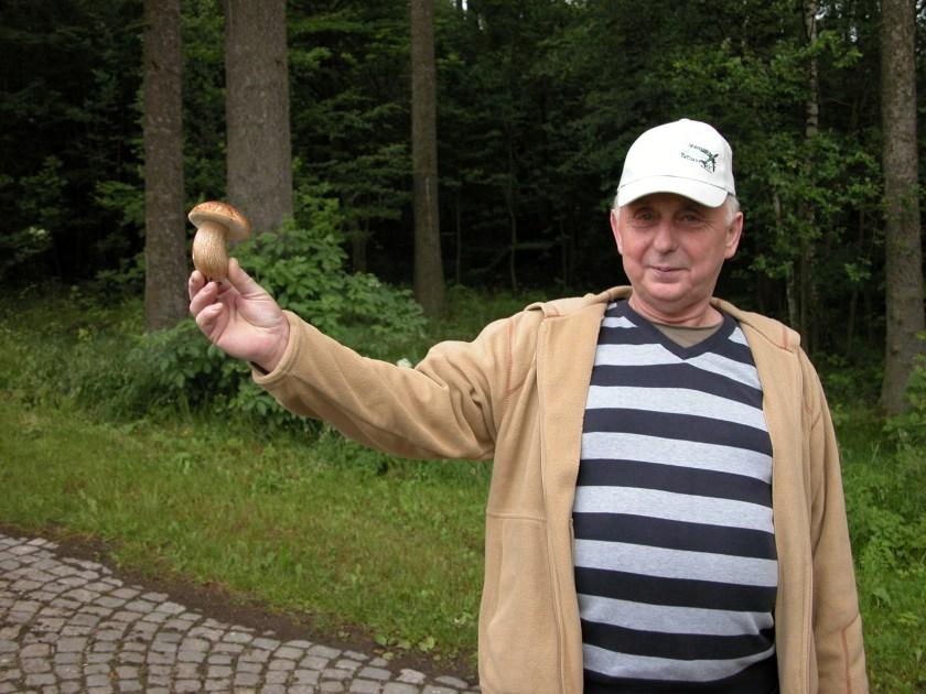 Man with mushroom
