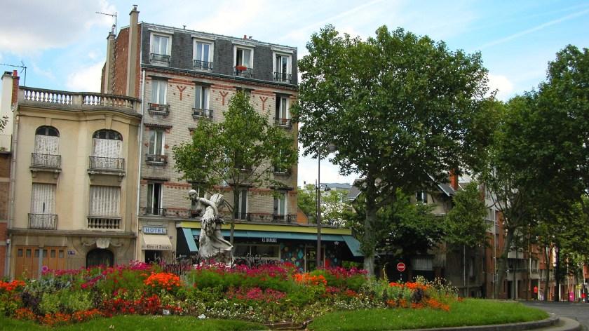 Outside Danube station in Paris