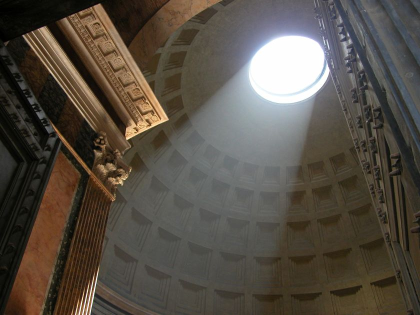 Skylight inside the Pantheon
