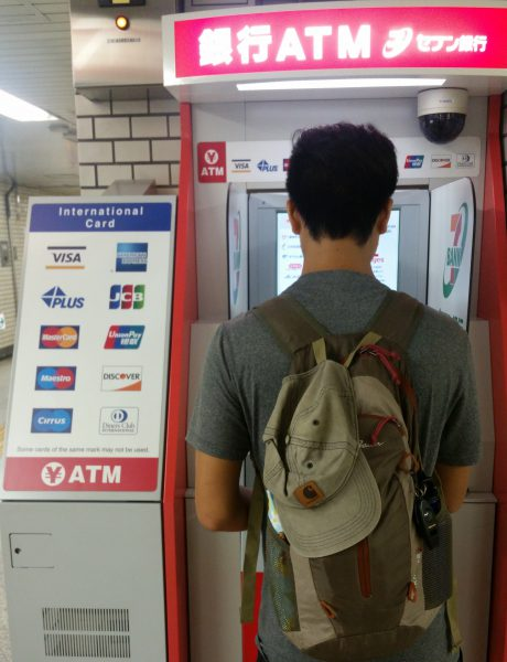 ATMs when traveling to withdraw cash