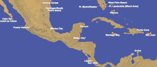 Southwest Caribbean Routes