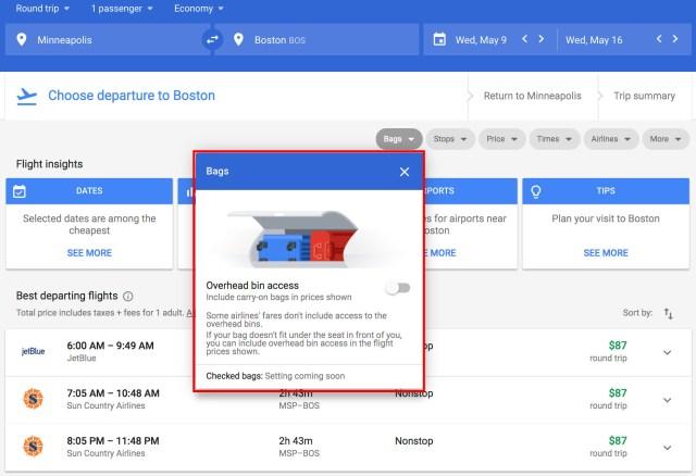 Google Flights rolls out Basic Economy Filter