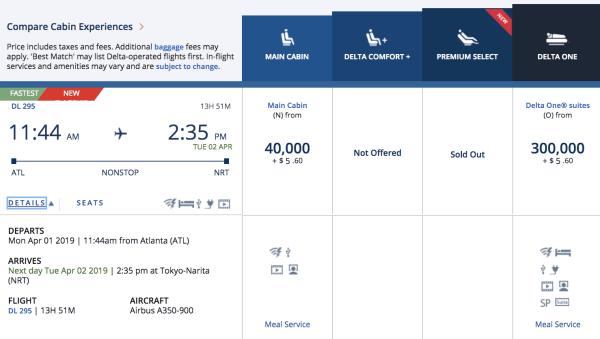 A350 Service from Atlanta