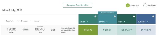 Aer Lingus Minneapolis