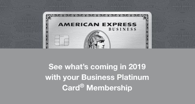Business Platinum Card New Benefits