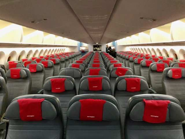 Norwegian Air seats