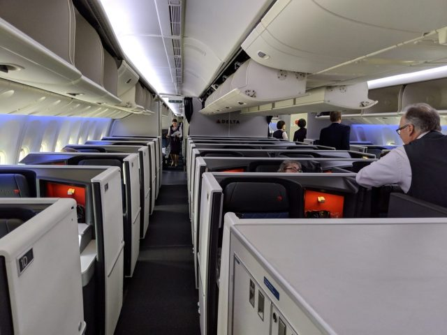 Delta One Suite Review cabin