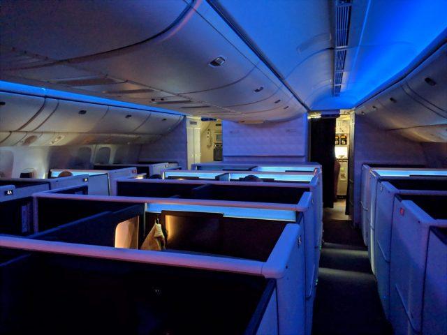 Delta One Suite lighting