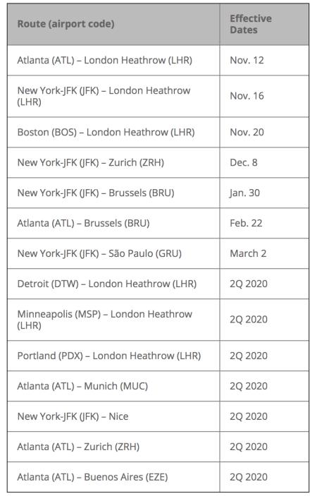 Delta 767 routes