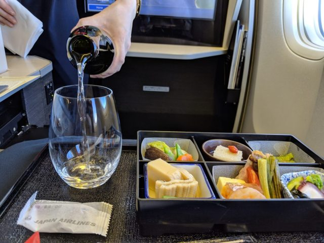 Japan Airlines Business meal