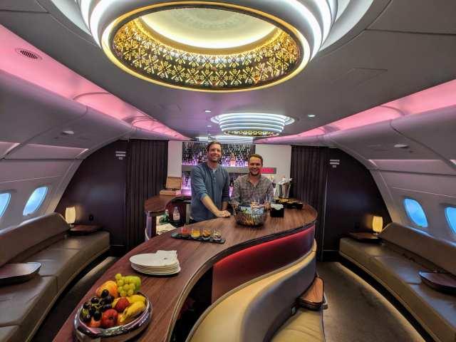 around the world flights bar