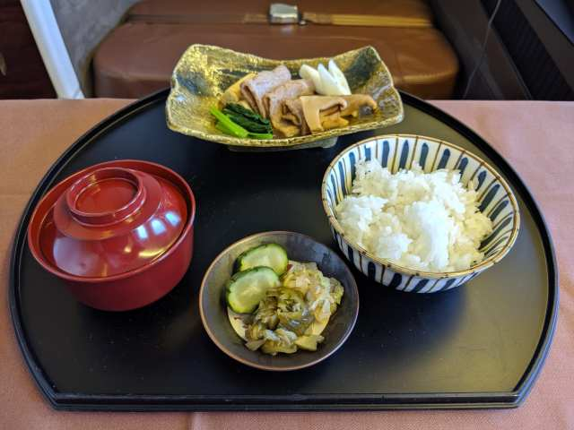 japan airlines first class review meal