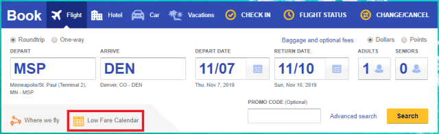 southwest homepage