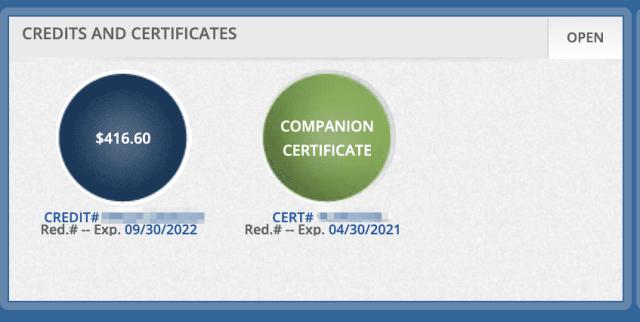 delta companion certificates