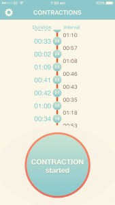 contraction timer positive birth