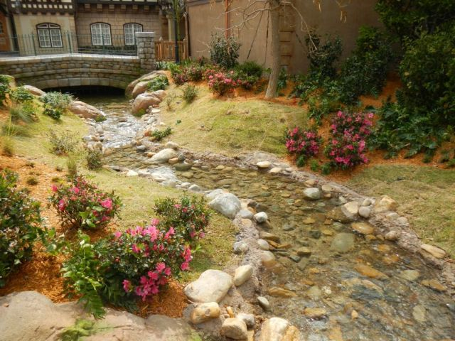 The stream that runs through the area adds a nice touch