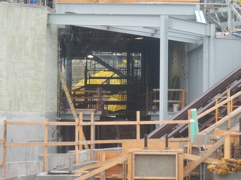 A peek inside the loading station