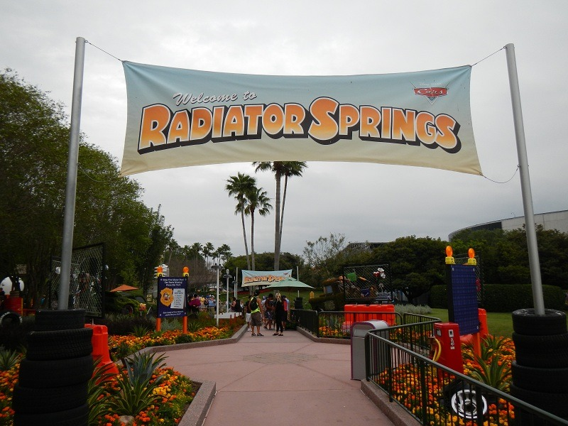 A Radiator Springs area with Cars topiaries is over by Test Track and behind Mouse Gears