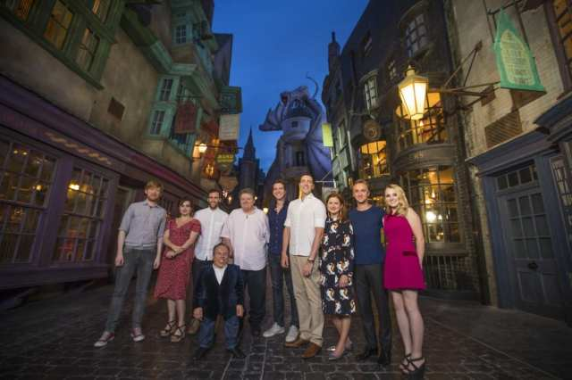 On June 18, 2014, Harry Potter film stars including Helena Bonham Carter (Bellatrix Lestrange), Tom Felton (Draco Malfoy), Matthew Lewis (Neville Longbottom) and others attended an exclusive preview of The Wizarding World of Harry Potter Ð Diagon Alley at Universal Orlando Resort.