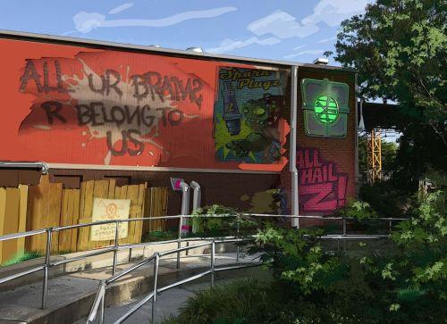 Plants vs. Zombies Garden Warfare 3Z Arena Queue Line Concept Art