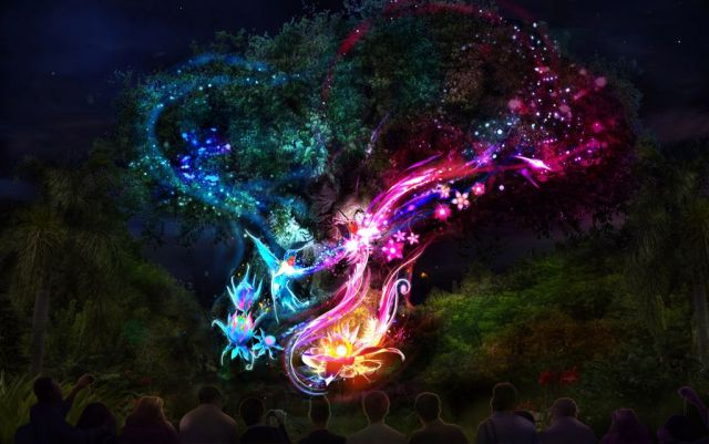 "The iconic Tree of Life at Disney's Animal Kingdom will undergo an amazing awakening starting spring 2016 as the animal spirits of the tree are brought to ""light"" at night by magical fireflies, revealing moments of wonder and enchantment. Disney's Animal Kingdom is one of four theme parks at Walt Disney World Resort in Lake Buena Vista, Fla. (Disney Parks)"