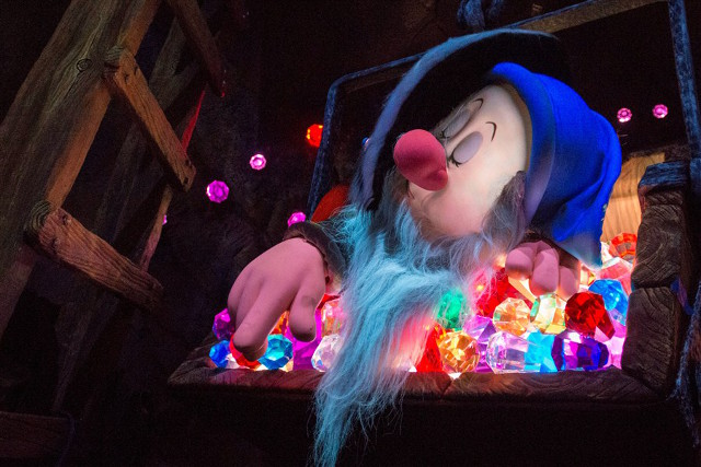 Inspired by Disney's classic animated film Snow White and the Seven Dwarfs, this family-friendly coaster – Seven Dwarfs Mine Train – will take guests into a fabulous mine glittering with jewels.