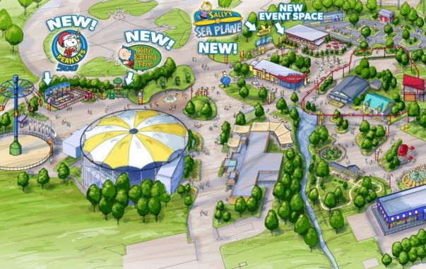 Three new family rides coming to Planet Snoopy in 2017! (PRNewsFoto/Cedar Fair Entertainment Company)