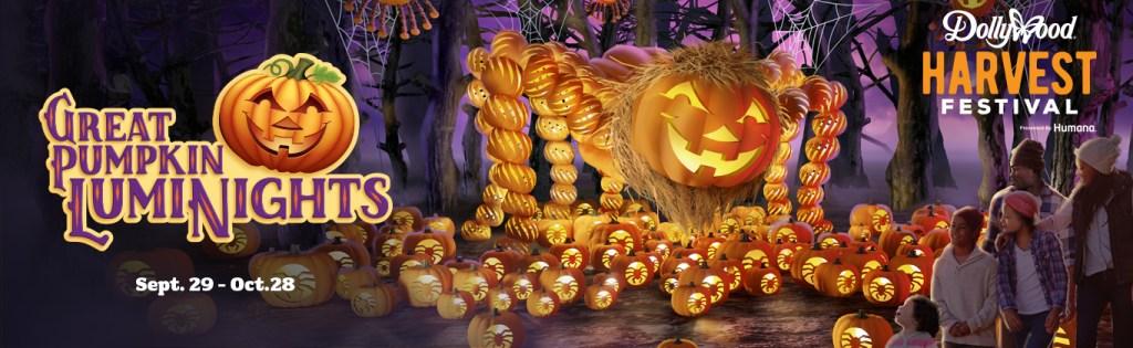 The Great Pumpkin LumiNights runs from Sept. 29 – Oct. 28. at Dollywood
