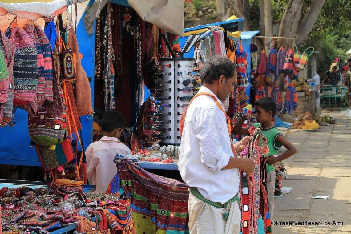 The Colorful River-Side Hampi Bazaar
