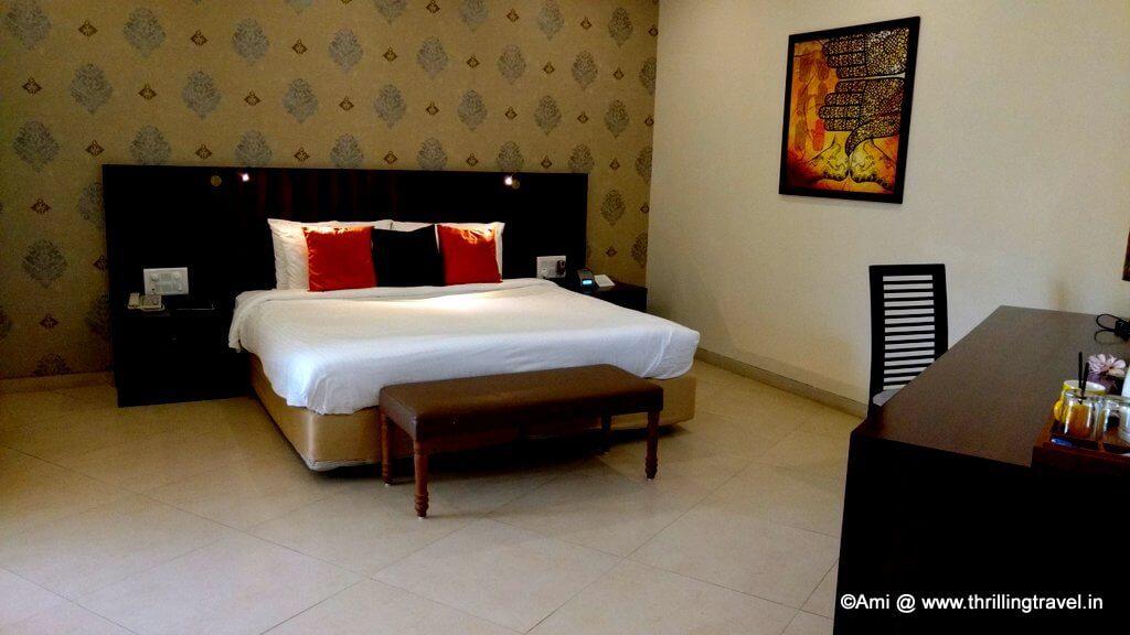 Triple Occupancy room that we had booked at U Tropicana Resort, Alibaug