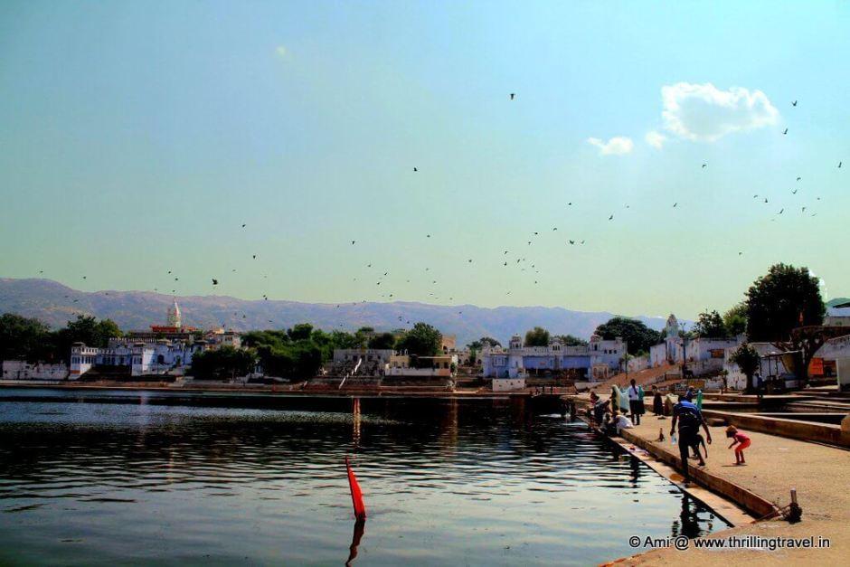 Ghats at Pushkar Lake