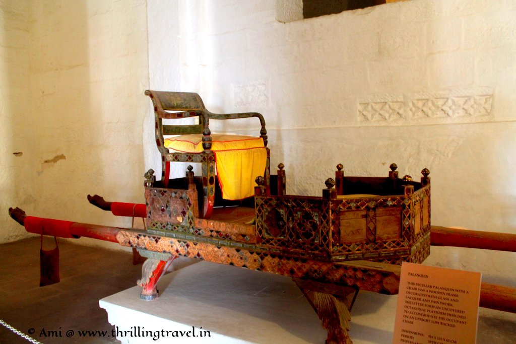 Glass and Lacquer Palanquin at Mehrangarh Fort
