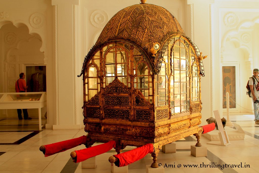 The Ornate Palanquin for the royalty at Mehrangarh Fort