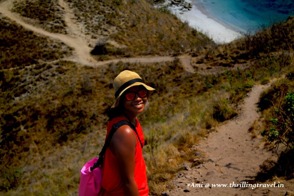 Tina, our guide at Padar Island