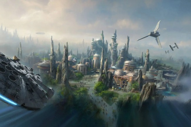 Theme park concept for Star Wars
