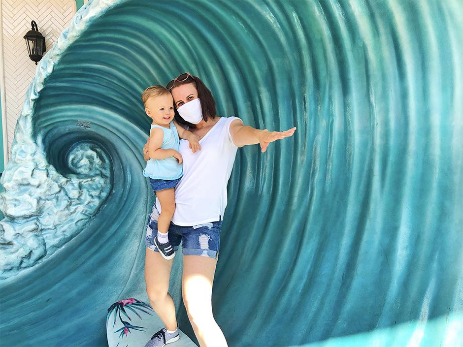 Quiet Flight Surfboard in Universal CityWalk