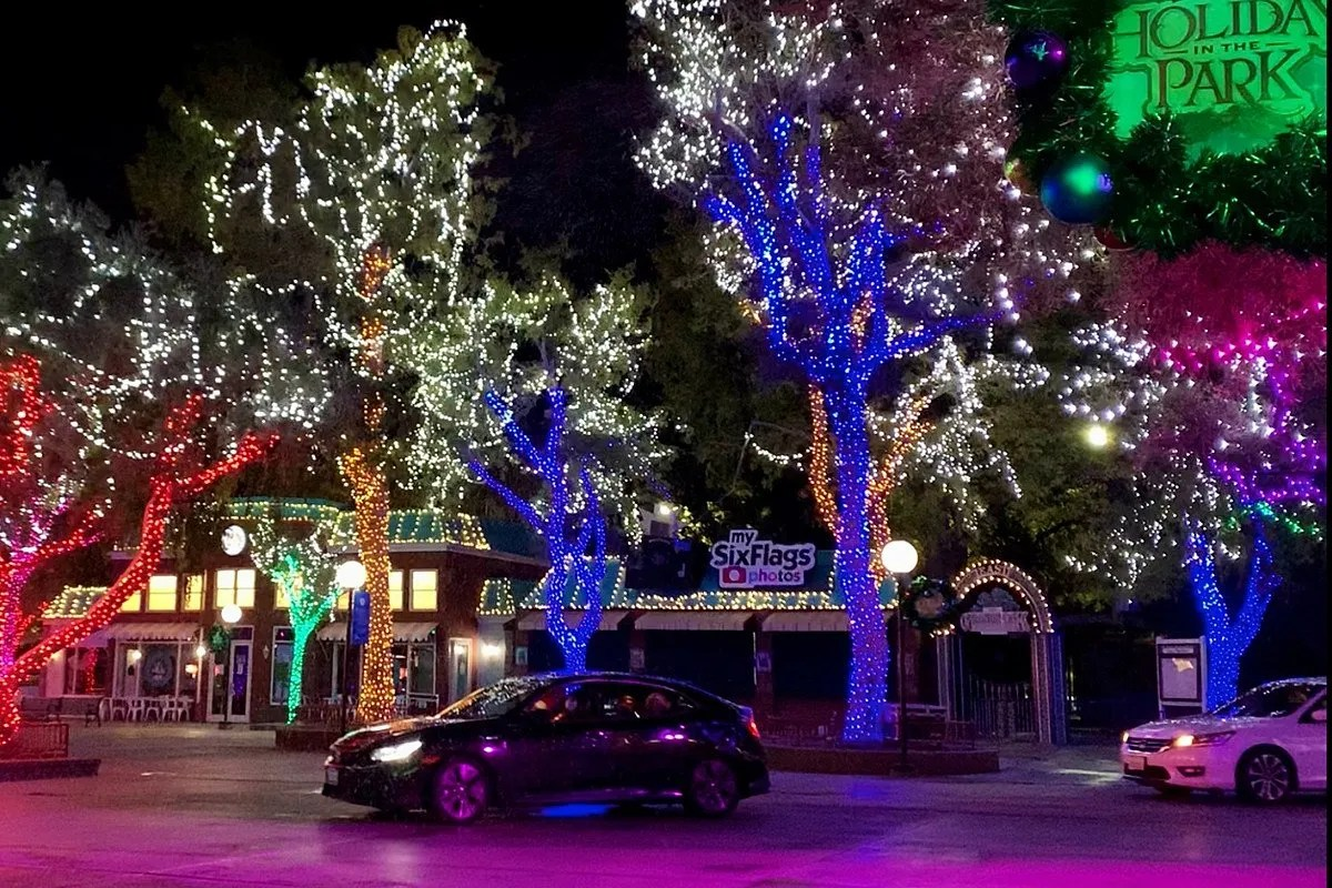 Six Flags' Holiday Drive-Thru Takes You Through the Park