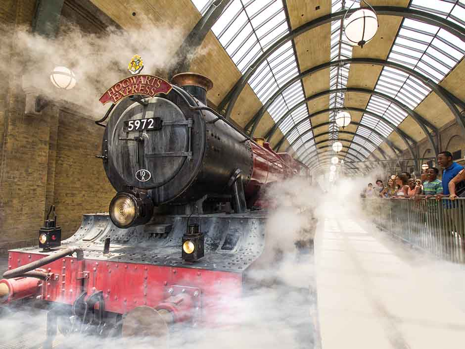 Hogwarts Express at King's Cross Station
